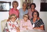 Richard's aunts (mother's side) and mother, Hilda: L to R: front - Betty, Helen, Clara; rear - Rosie, Lilly, Hilda