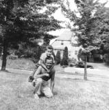 Richard and his father Paul at Pine Bush, New York in 1951