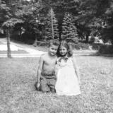 Cousin Susan (mother's side) and Richard at Pine Bush, New York in 1950