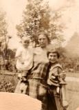 Left to right: Aunt Clara (mother's sister), grandma Anna and aunt Helen (1920's)