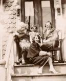 Front: Hilda (Richard's mother), L. to R.: Mrs. Small (grandma's friend?), aunt Rosie and grandma Anna (early 1930s )