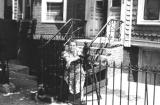 Richard's grandma Anna - mother's side, in front of her house on St. Mark's Avenue, Brooklyn (1946)
