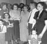 Aunt Rosie reading - 45th anniversary party for grandma Anna and grandpa Louis (mother's side) (1952)