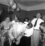 New Years eve party (mother's side). Aunt Clara is father time. (circa 1950)