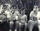 Left to right:  Cousins Ronnie, Sara, Marcia and Lenny - mother's side (circa 1950)