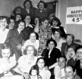 45th anniversary party for grandma Anna and grandpa Louis (mother's side) (1952)