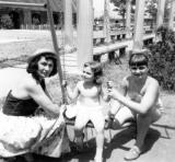 Left to right: Richard's aunt Helen, and cousins Sara and Ruth - mother's side (1951)