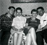 Left to right: Cousins Barry, Marilyn, Phyllis and Jules - mother's side (1958)