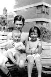 Cousins Sam, Sybil and Ruth (held by Sam) - children of aunt Helen and uncle Abe - mother's side (mid to late 1930's)