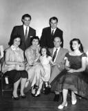 Left to right: front row - Sybil, Helen, Sara, Abe and Ruth; back row - Fred (Sybil's husband) and Sam  (mother's side) (1955)