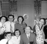 Passover seder (father's side) at grandparents' (Gussie and Charles) apartment in the Bronx. Richard is front left. (1951)
