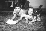 Richard's cousins Judie and Alan (children of aunt Adelle and uncle Harry - father's side) (circa 1950)