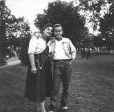 Richard and his mother Hilda (1955)