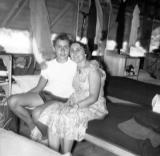 Richard and his mother Hilda when he was a counselor at a basketball summer camp (1957)
