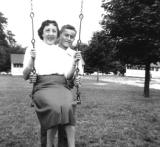Richard and his aunt Rose - father's side (1956)