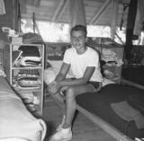Richard when he was a counselor at a basketball summer camp (1957)
