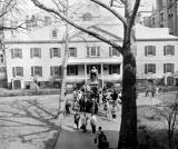 Erasmus Hall High School - the original academy building in the inner courtyard. Richard's old high school. (1959)