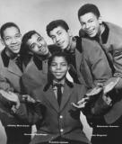 Frankie Lymon & the Teenagers. Richard's friend Jimmy Merchant is on the left.  Doo wop/rhythm & blues - music of the 50's.