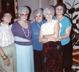 Left to right: Hilda (Richard's mother) and her sisters Lilly, Betty, Rosie and Clara 1986