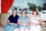 Left to right: Lilly, Betty (Hilda's sisters) and Hilda (Richard's mother) 1977