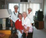 Left to right: Lilly, Clara, Rosie and Betty - Hilda's sisters (circa 1990)