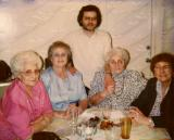 Left to right: Aunt Lilly, aunt Clara, Richard, aunt Betty and Hilda (Richard's mother) - 1980s