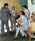 Paul (Richard's father), some of his coworkers & Hilda (Richard's mother) at Paul's retirement dinner. (1978) (3)