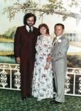 Richard, Hilda & Paul at Paul's retirement dinner. A rare photo of Richard wearing a suit (a three piece) :-) (1978) (1)