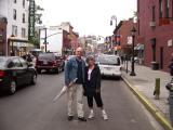 Judy and Ken on a street near downtown Brooklyn