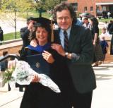 Judy's Ph.D. graduation - Judy and Richard (1997)