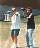 Ken (Richard's close friend) and Richard ham it up for the camera (1993)