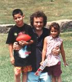 Richard with Kate and Seth - Pam and Ken's children (1993)