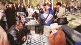 Chess games in Washington Square Park, Greenwich Village - in Manhattan