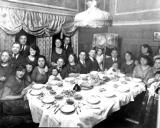 Dinner: Grandparents (father's side). Paul (Richard's father) is on grandpa's lap with grandma Gussie to his right. (circa 1918)