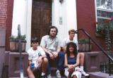 Left to right: Steve, Richard, Judy and Ted in front of Ken & Pam's house in Cobble Hill, Brooklyn (1988)