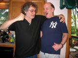 The Hoch about to be punished by Richard for wearing a New York Yankees tee-shirt in Richard's house! :-) (5-06)