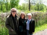 Pam, Judy and Richard near nests of herons at Cuyahoga Valley National Park in Ohio - when Pam and Ken visited us. (5-06)