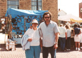Richard and his mother Hilda at a street fair in Kent, OH  (early 1990's)