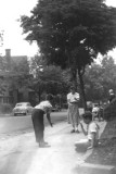 After dinner scene in front of 410 Westminster Road, where Richard was raised (circa 1950)