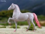 Breyer Little Bits Paddock Pal Saddle Club Morgan - purple and pink