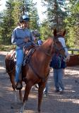 Davora Bills riding Kalee Wright's horse Cotton