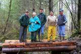 Trail crew and bridge inspection team