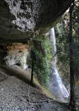 Trail under the falls