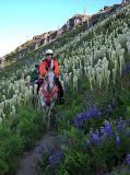 Virginia and Sherri in the Goat Mtn Bear Grass
