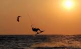 Kite surfing at Agios Ioannis beach.