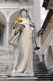 Saint Scholastica, sister of St Benedict - Montecassino Abbey