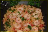 crevettes/prawns - riz/rice Bombay style