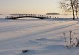 Bridge by the lake Mälaren.