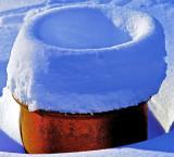 Impression of snow on a jar