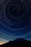 Perseus Strikes at Polaris Over Mount Shasta